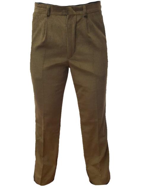 Pantalone scout velluto kaki