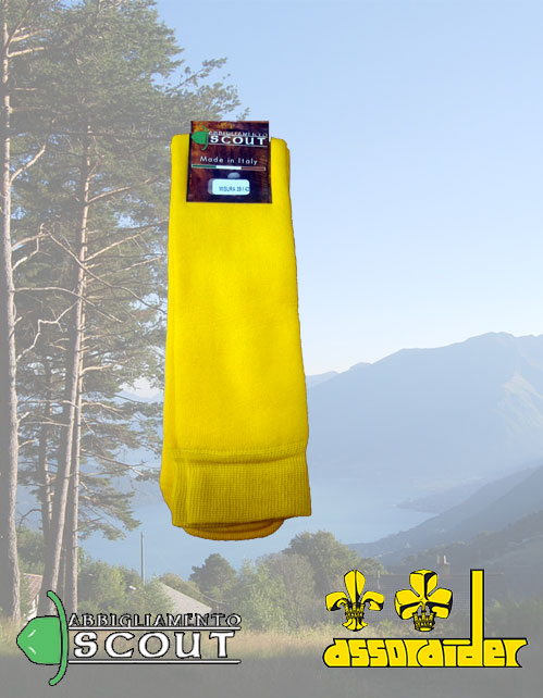Calze gialle tubolari in spugna Assoraider