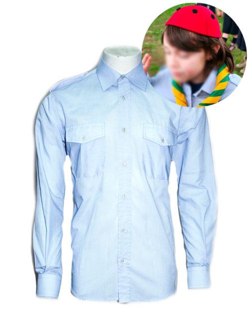 Camicia coccinella scout celeste
