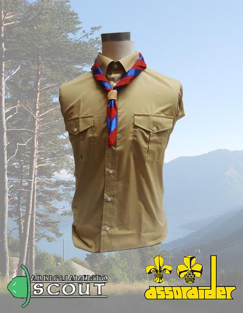 Camicia Scout Assoraider kaki