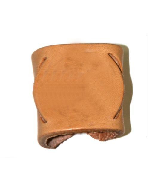 ferma fazzolettone cuoio personalizzabile