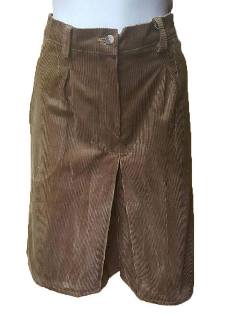 Gonna pantalone scout velluto kaki