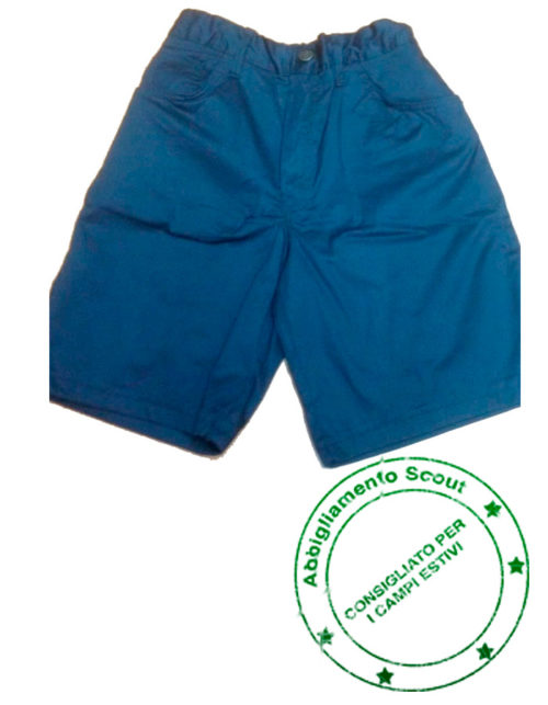 pantaloncino scout cotone bimbo