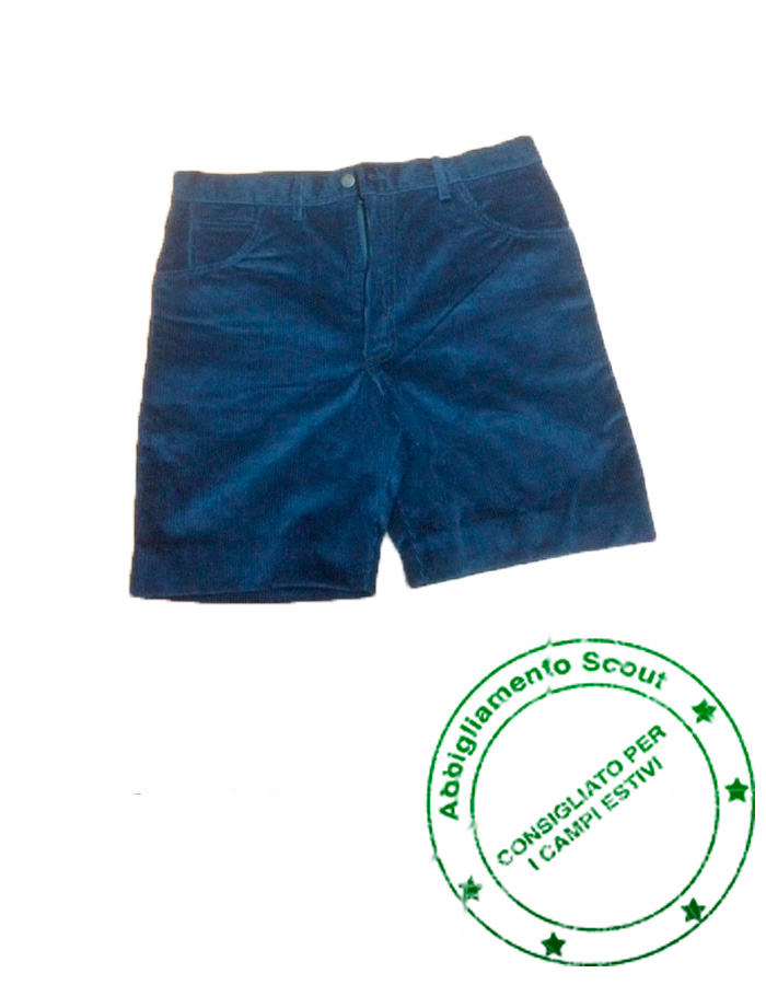 Pantaloncino scout cotone blu