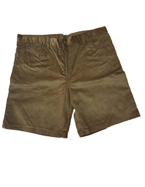 Pantaloncino scout velluto kaki