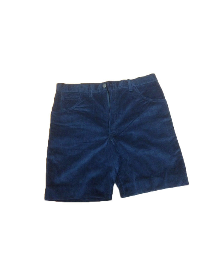 Pantaloncino scout velluto blu
