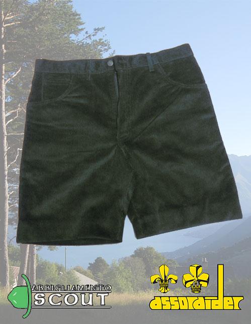 Pantaloncino velluto verde Assoraider
