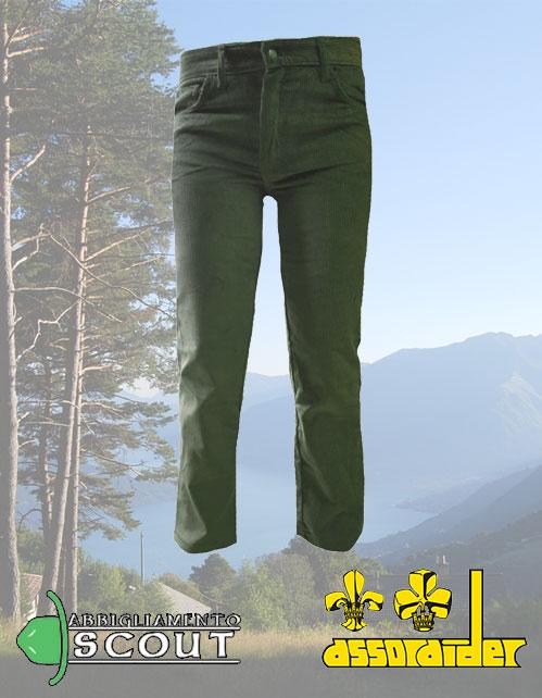 Pantalone velluto verde Assoraider