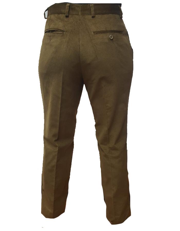 Pantalone scout velluto kaki retro