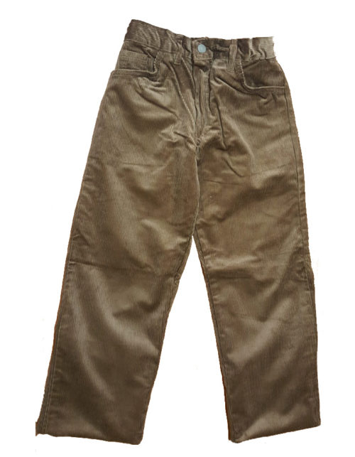 Pantalone scout velluto kaki bimbo
