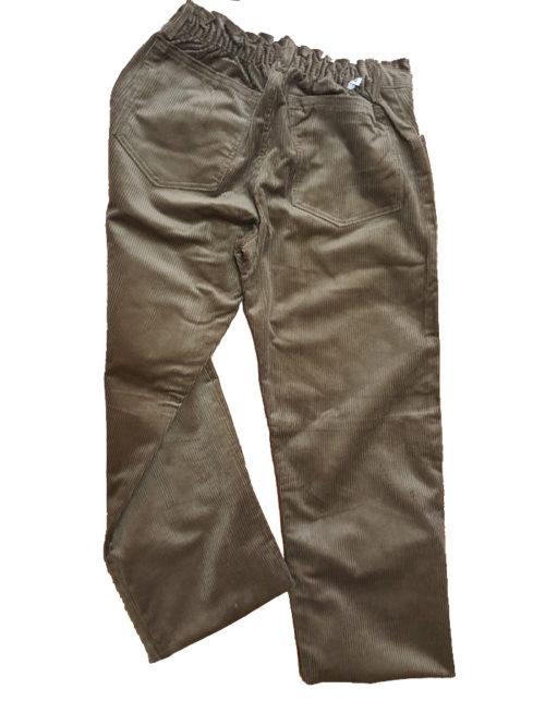 Pantalone scout velluto kaki bimbvo retro